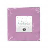 Pastel Paper Tableware 5 Purple napkins