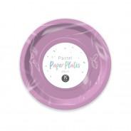 Pastel Paper Tableware 9 Purple paper plates