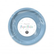 Pastel Paper Tableware 10 Blue paper plates