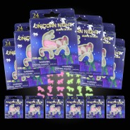 24 Piece Glow in the Dark Unicorn Shapes (12 pack) 1