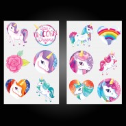 Unicorn Temporary Tattoos (12 pack) 2 Two designs