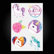 Unicorn Temporary Tattoos (12 pack) 3 Design One