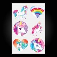 Unicorn Temporary Tattoos (12 pack) 4 Design Two