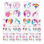 Unicorn Party Bag Pack (12 pack) 6 12 x sheets of tattoos