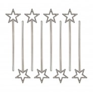 Silver Mini Star Wands (8 pack) 1