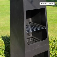 Phoenix Steel Chimenea Fire Pit & BBQ Grill With Rain Cover by Fire & Dine  4