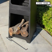 Phoenix Steel Chimenea Fire Pit & BBQ Grill With Rain Cover by Fire & Dine  5