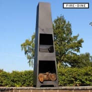 Phoenix Steel Chimenea Fire Pit & BBQ Grill With Rain Cover by Fire & Dine  7