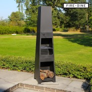 Phoenix Steel Chimenea Fire Pit & BBQ Grill With Rain Cover by Fire & Dine  10