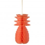 Neon Pineapple Honeycomb Decorations (3 Pack) 4