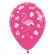 25 x Pink Flamingo Balloons 2