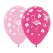 25 x Pink Flamingo Balloons 1