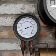 Industrial Styled Pipe Clock with Thermometer & Hygrometer 6