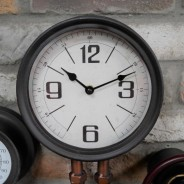 Industrial Styled Pipe Clock with Thermometer & Hygrometer 4