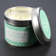 Polkadot Scented Candle Tins 2 Lavender & Bergamot