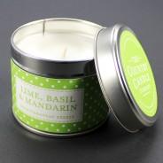 Polkadot Scented Candle Tins 3 Lime, Basil & Mandarin