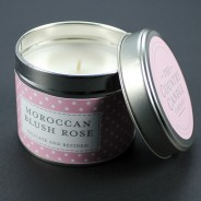 Polkadot Scented Candle Tins 4 Moroccan Blush Rose