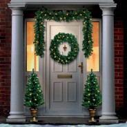 Pre Lit Christmas Door Set 1