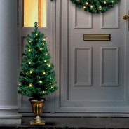 Pre Lit Christmas Door Set 4