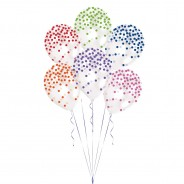 Printed Confetti Balloons (6 pack)  2 Mixed