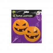 Pumpkin 3D Paper Lantern Shades 5 Orange