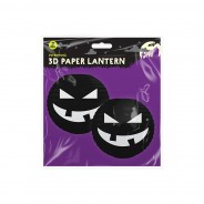 Pumpkin 3D Paper Lantern Shades 4 Black