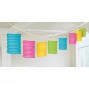 Rainbow and Neon Paper Lantern Garlands 3 Neon