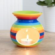 Rainbow Stripe Oil Burner 1