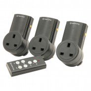 Remote Controlled Mains Socket Adaptor (3 pack) 1
