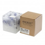 Real Flower & Soy Wax Hurricane Candles 12 Lavender Fields Square