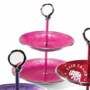 Recycled Aluminium Cake Stand with Enamel  3