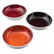 Recycled Aluminium Dark Enamel Bowls x 3 1