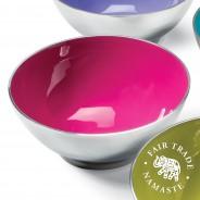 Recycled Aluminium Salad Bowl with Bright Enamel 3