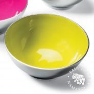 Recycled Aluminium Salad Bowl with Bright Enamel 4