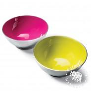 Recycled Aluminium Salad Bowl with Bright Enamel 2
