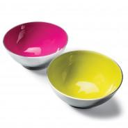 Recycled Aluminium Salad Bowl with Bright Enamel 1