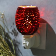 Fireworks 3D Plug In Wax Warmer  3 Red