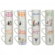 Roald Dahl Fine China Stacking Mug Sets 2