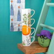 Roald Dahl Fine China Stacking Mug Sets 4 James and the Giant Peach
