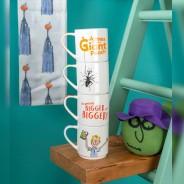 Roald Dahl Fine China Stacking Mug Sets 5 James and the Giant Peach