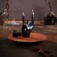 Rock n Roll Hand Candle  2