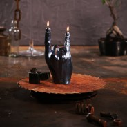 Rock n Roll Hand Candle  4