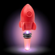 Light Up Rocket Bottle Stopper 1