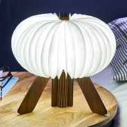 Gingko R Space Rechargeable Lamp 10 Walnut