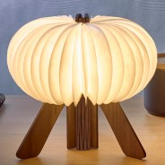 Gingko R Space Rechargeable Lamp 1 Walnut