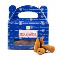 Satya Backflow Dhoop Cones  4 Nag Champa