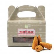 Satya Backflow Dhoop Cones  8 White Sage
