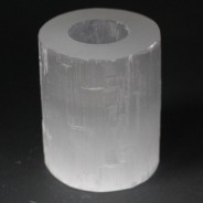 Selenite Candle Holders 3 10cm