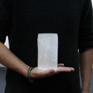 Selenite Candle Holders 7 15cm