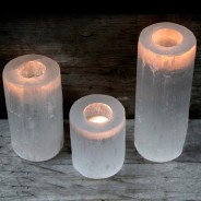 Selenite Candle Holders 1